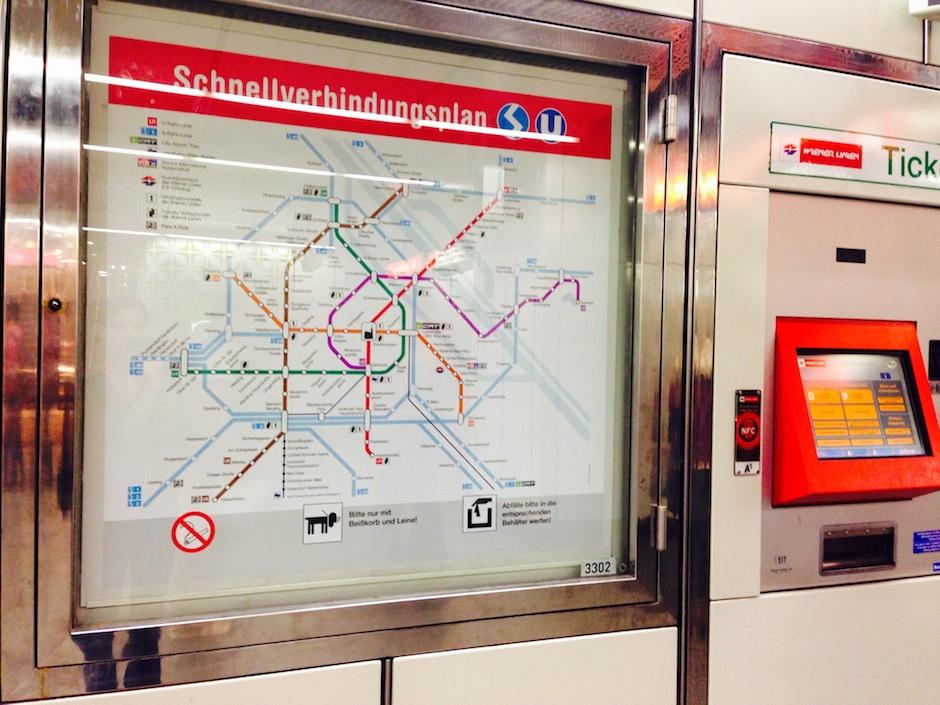 Foto der U-Bahnlinien-Karte