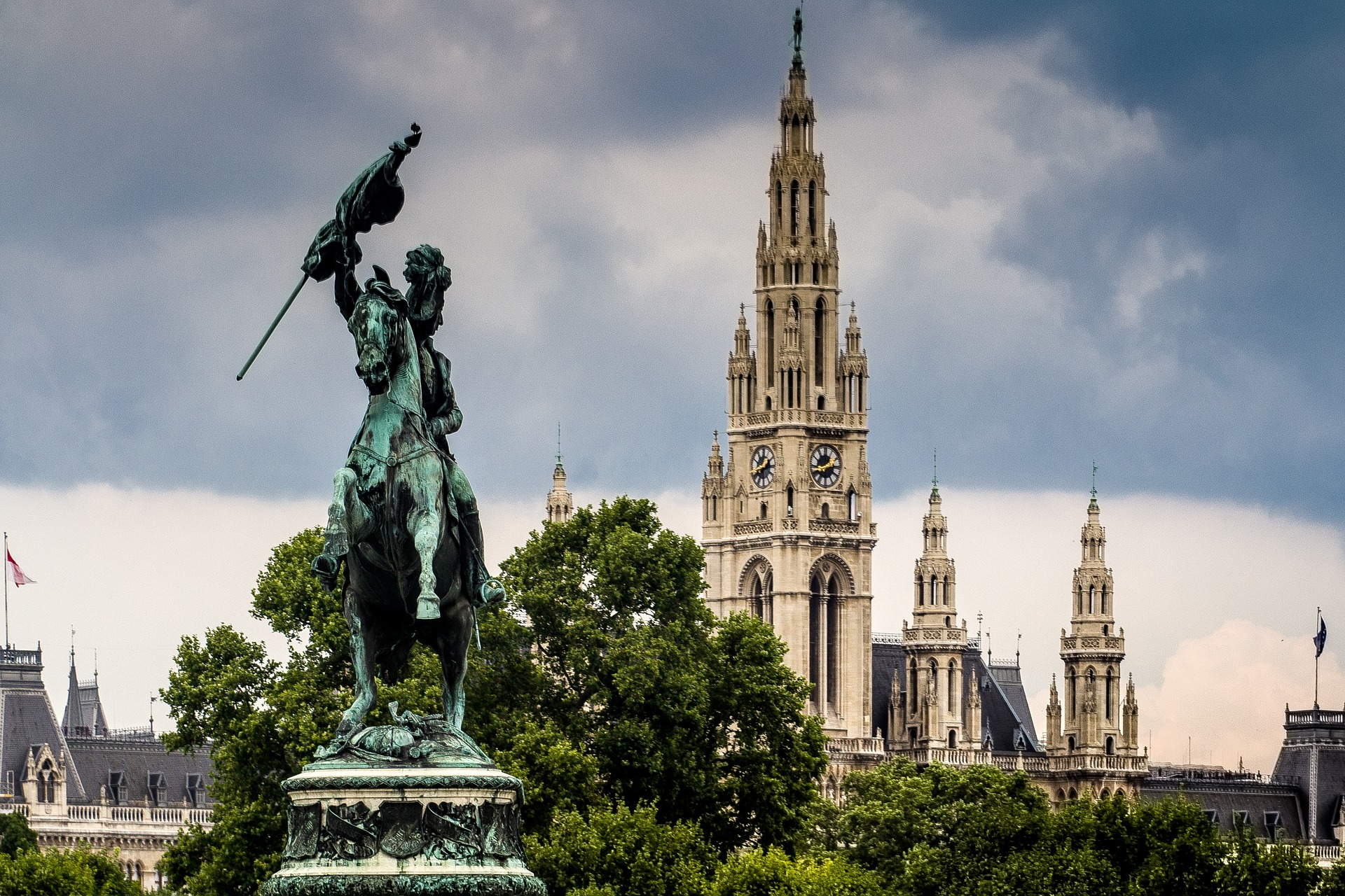 Das Wiener Rathaus, Foto: CC0 Public Domain, domeckopol/Pixabay