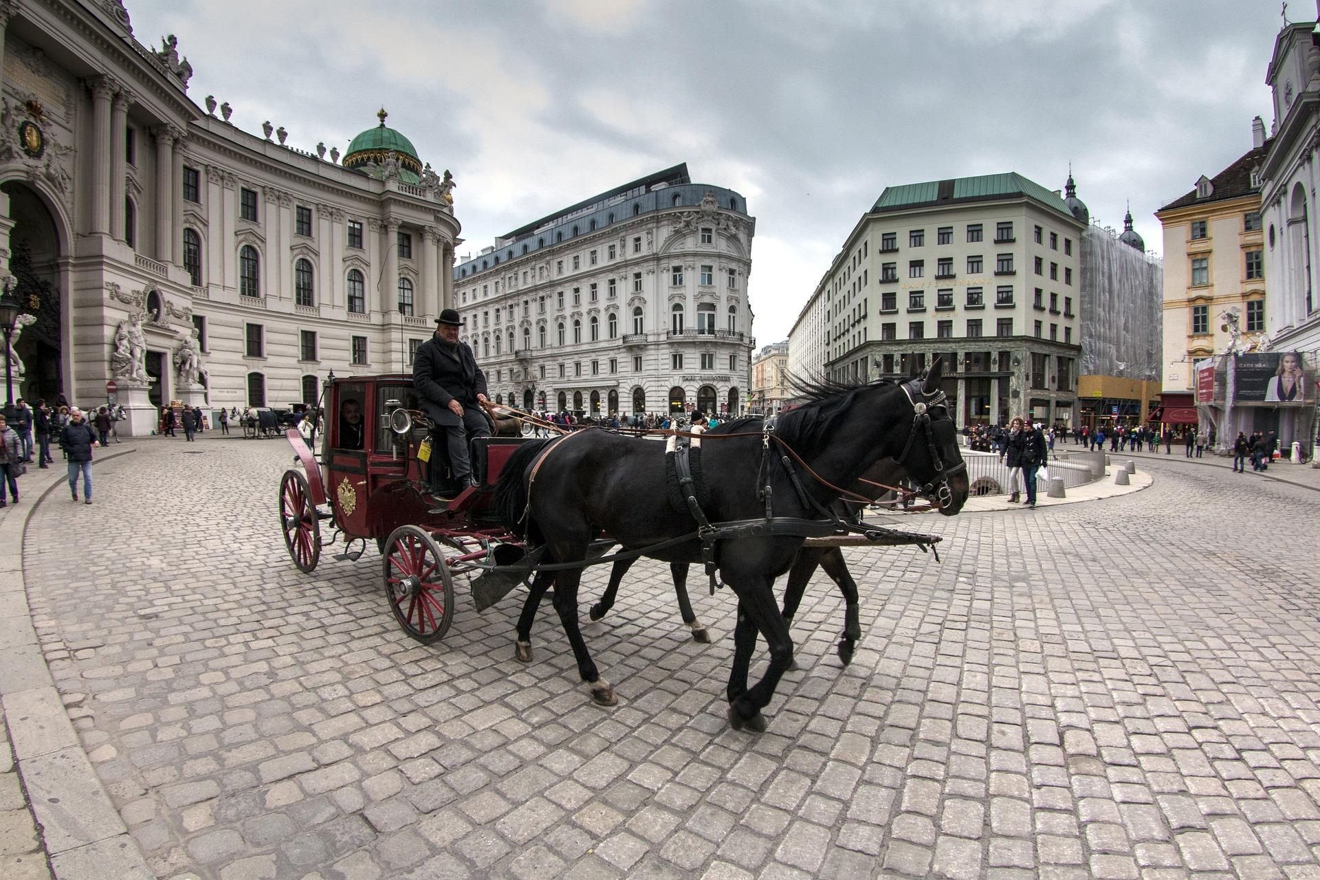 Unterwegs mit dem Fiaker in Wien, Foto: domeckopol/Pixabay
