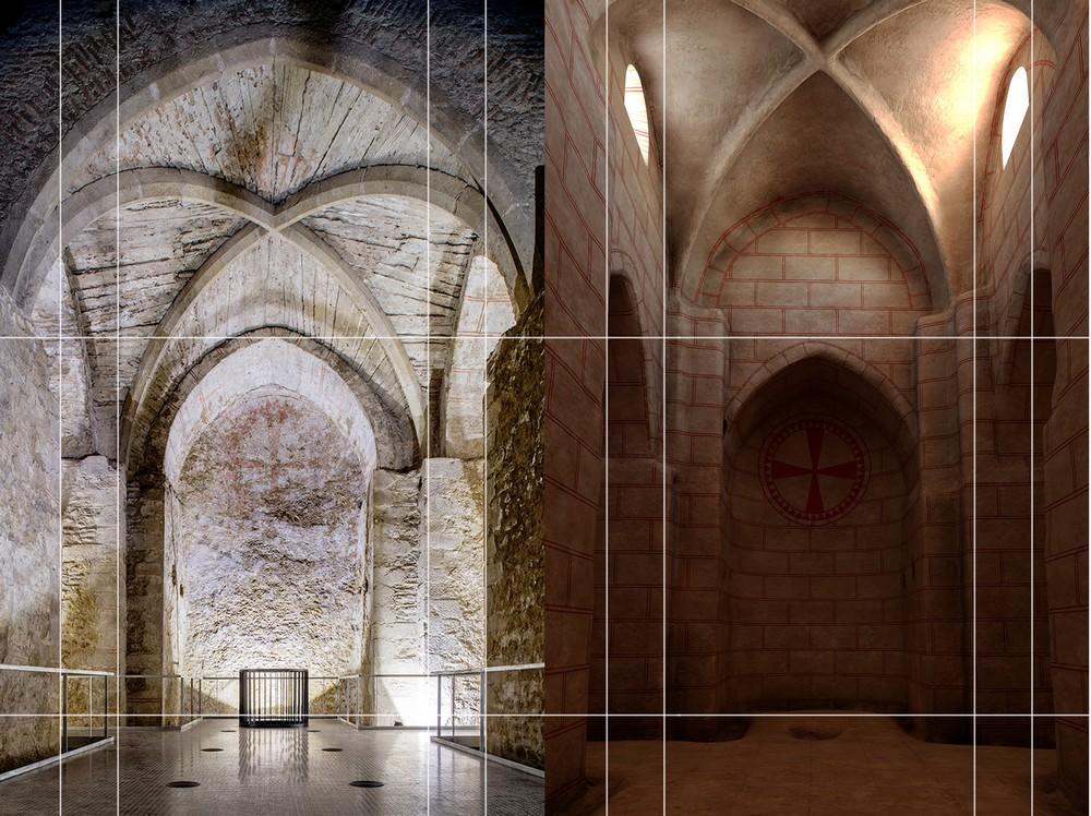 Virgilkapelle Stephansdom, Rekonstruktion des unterirdischen Raumes 13. JH.