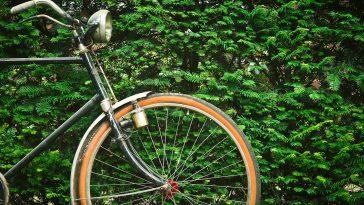 Großaufnahme des vorderen Teiles eines Fahrrades