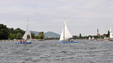 Segelboote auf der Alten Donau (21. Bezirk)