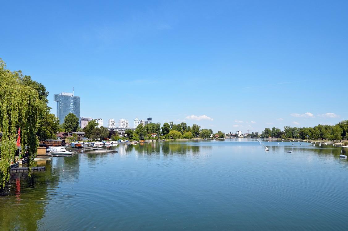 Skyline an der Alten Donau (22. Bezirk)