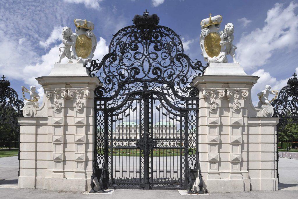 Belvedere, Schmiedetor-Eingang von Seiten des Landstaßer Gürtels, (3. Bezirk)