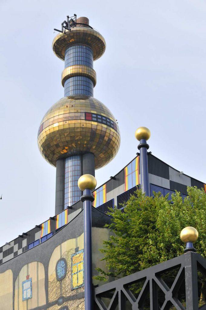 Schornstein des Gebäudes der Fernwärme Wien