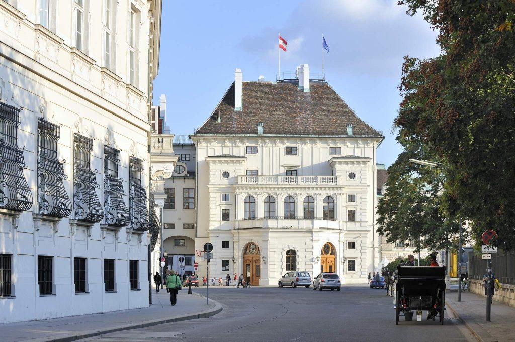 Außenansicht des Präsidentschaftstrakts der Hofburg (1. Bezirk)