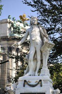 Mozart Denkmal im Burggarten (1. Bezirk)