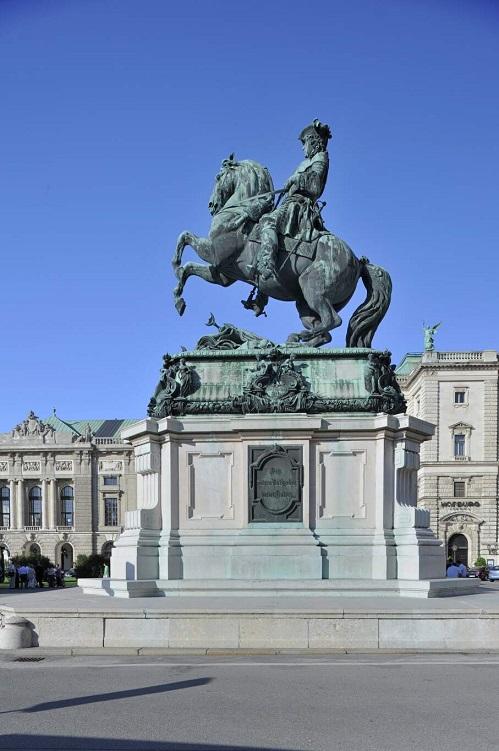 Reiter auf Pferd, Prinz Eugen Denkmal