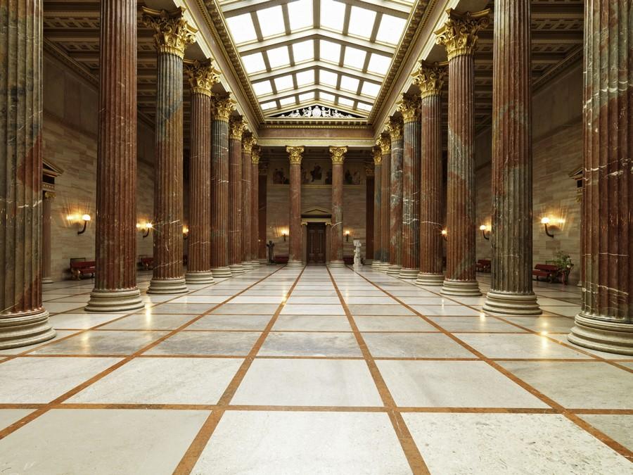 Säulenhalle in Blickrichtung Empfangssalon