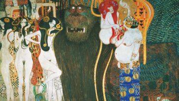 Beethovenfries Gemälde von Gustav Klimt