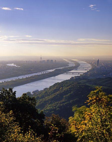 Blick über Wien mit Donau