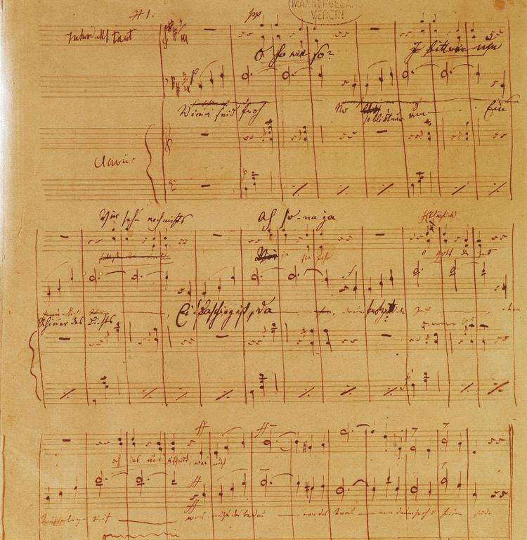 """Johann Strauss """"Donauwalzer"""" -Urfassung; Archiv: Wiener Männergesangsverein"""