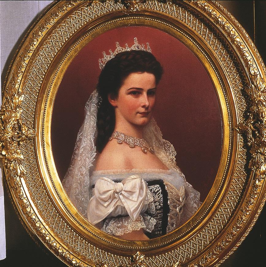 Kaiserin Elisabeth I. im ungarischen Krönungsornat(Gemaelde: Georg Raab)