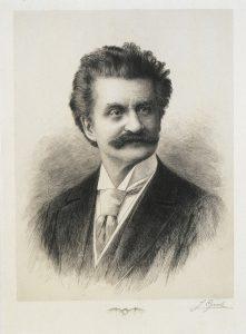 Porträt Johann Strauss um 1885 / Strauss Museum (Wohnung)