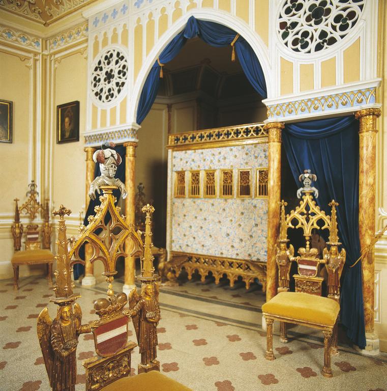 Schlafzimmer in der Franzensburg bei Laxenburg