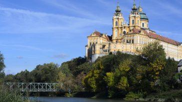 Das Stift Melk an der Donau.