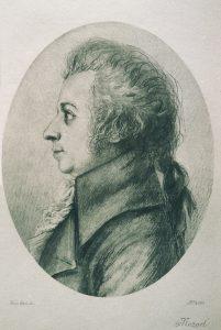W. A. Mozart, Portrait in der Österreichischen Nationalbibliothek Wien.