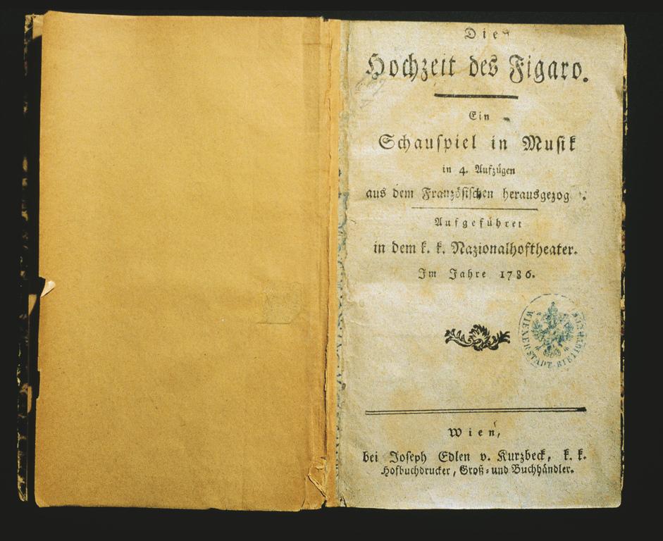 """W. A. Mozart """"Die Hochzeit des Figaro"""" / hist. Textbuch"""