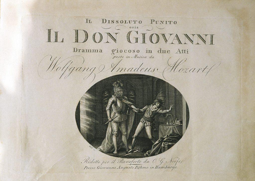 W. A. Mozart: Don Giovanni-Druck in der Österreichischen Nationalbibliothek