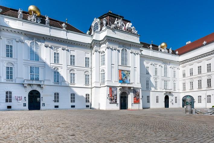 Gebäudeansicht der Österreichischen Nationalbibliothek