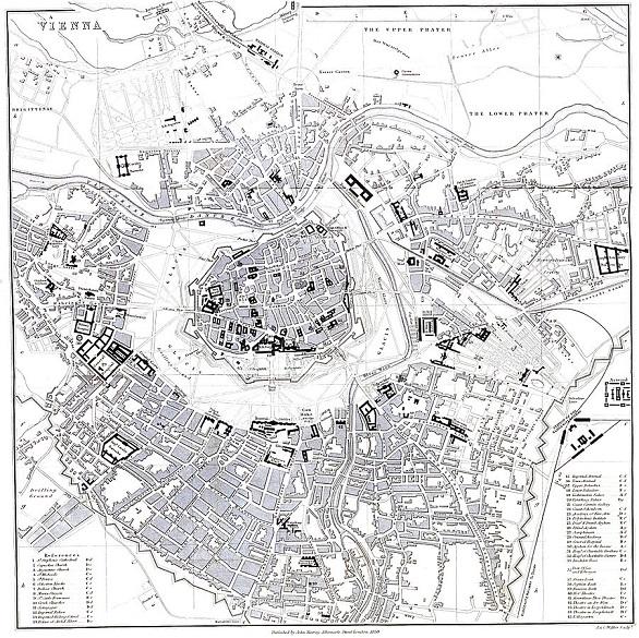 Der Wiener Stadtplan von 1858