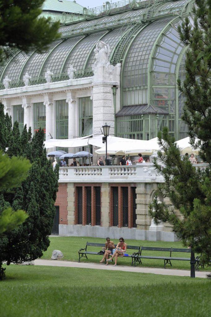 Terrasse des Restaurats des Palmenhauses (1., Burggarten 1)