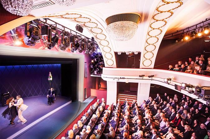 Zuschauerraum mit Gästen bei der Aufführung