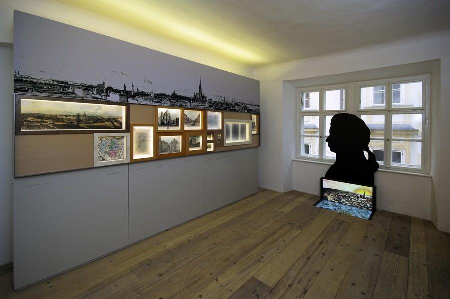 Ausstellungsraum des Komponisten Mozart in Wien