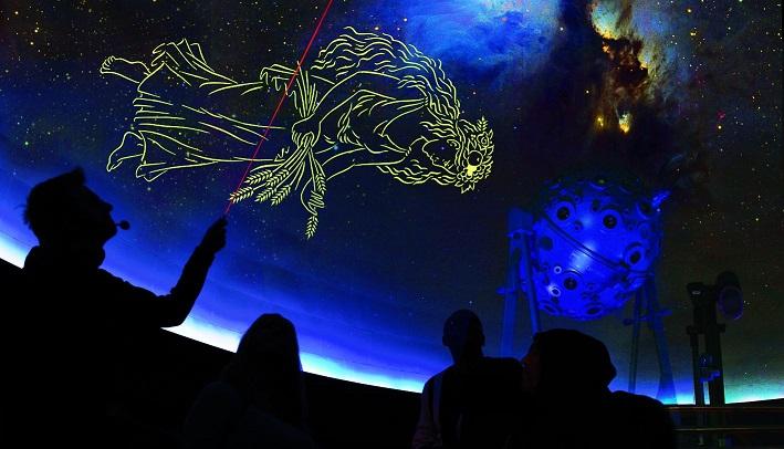 5 Sternbilder in einer Stunde - Programm des Planetariums