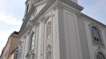 Seitenansicht der Rochuskirche (3., Landstraßer Hauptstraße 56)