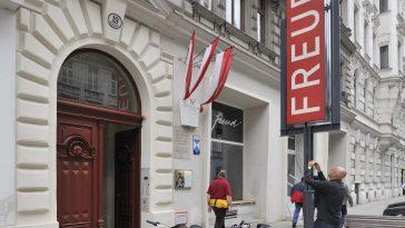 Anblick der Fasade des Sigmund Freud Museums