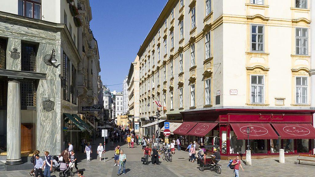 Ein Blick auf die Einkaufsstraße Kohlmarkt