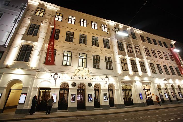 Ansicht des Theatergebäudes des Theaters in der Josefstadt