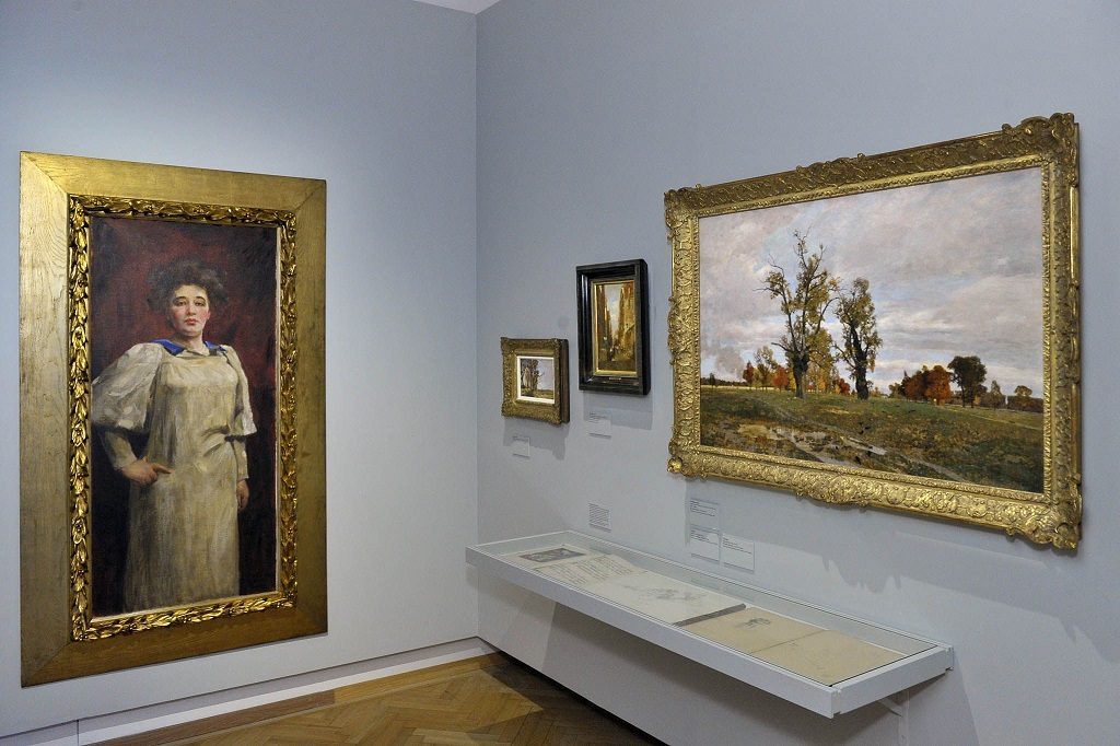 Gemälde Frau in Schürze im Jüdischen Museum in Wien