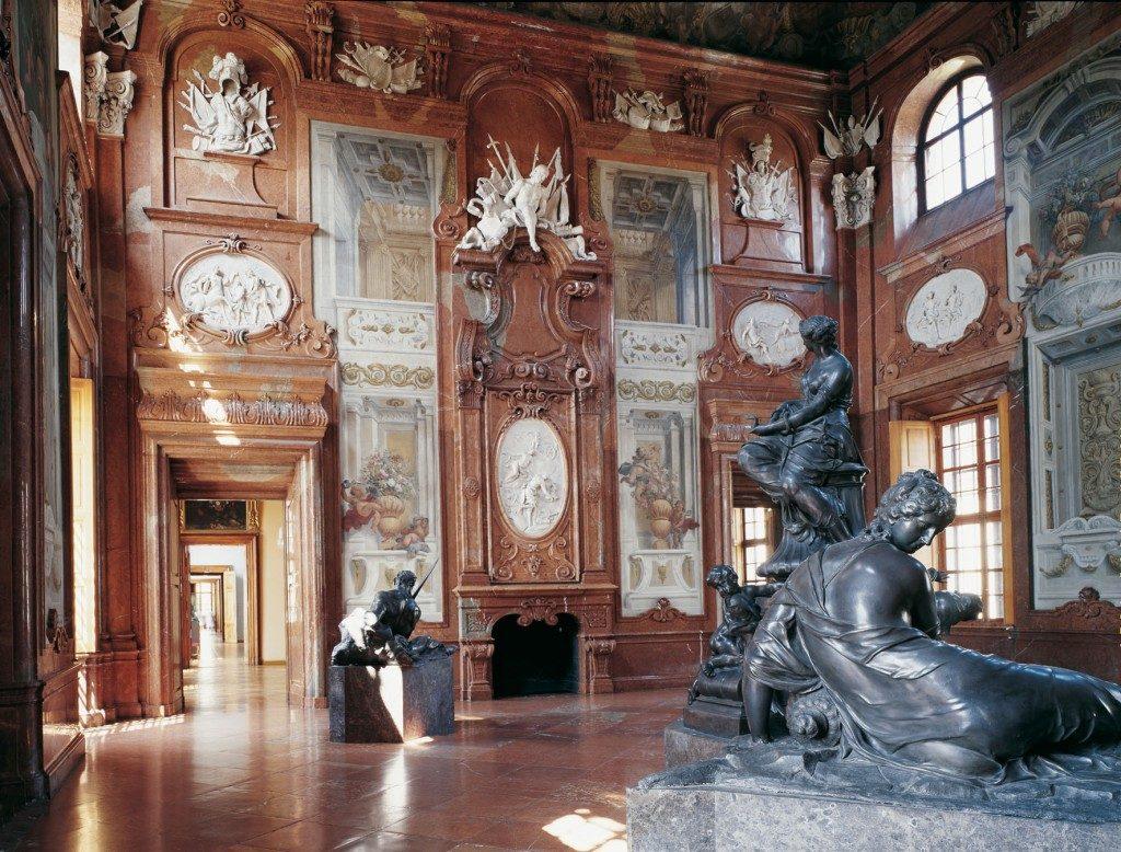Blick in den Marmorsaal im Unteren Belvedere