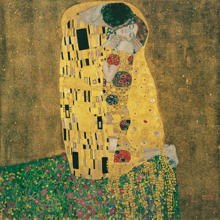 "berühmtes Ölgemälde von Gustav Klimt ""Kuss"""