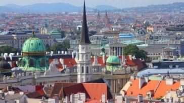 Ein schöner Blick über die Dacher der Wiener Altstadt