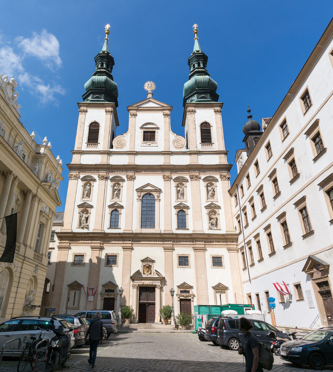 jesuit church or university church on ignaz seipel platz in vienna, austria