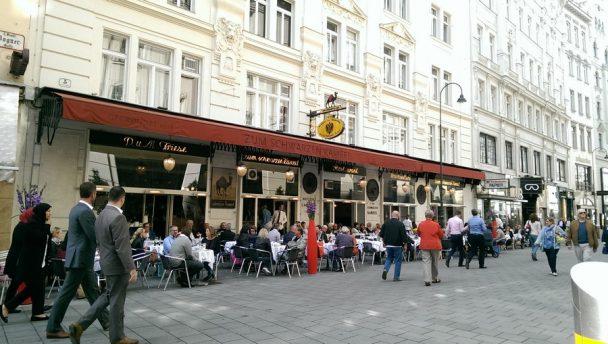 Restaurant zum Schwarzen Kameel, Außenansicht