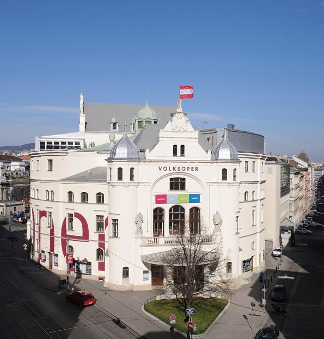 Ansicht des Gebäudes der Volksoper von außen