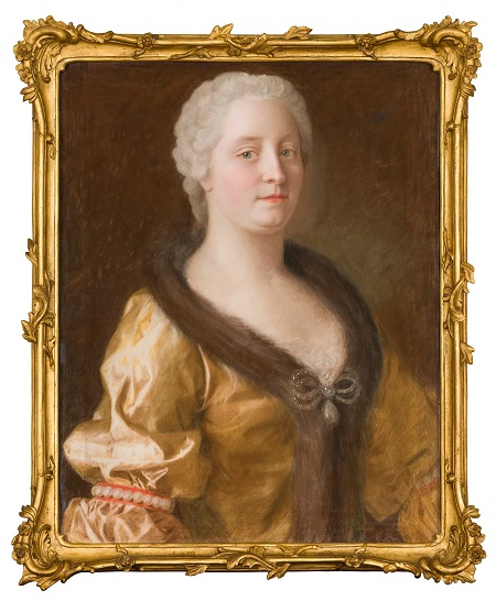 Maria Theresia im pelzverbrämten Kleid (1743), Maler: Jean-Étienne-Liotard