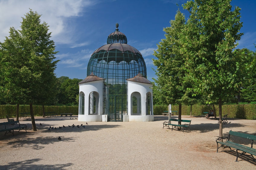 pavilion in the park of schonbrunn palace