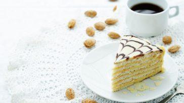 esterhazy cake on a white background