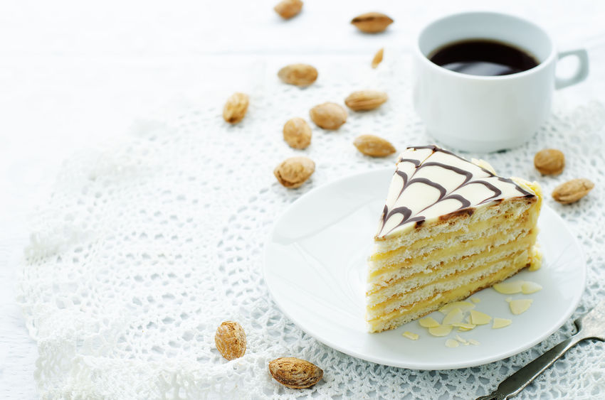 esterhazy cake on a white background