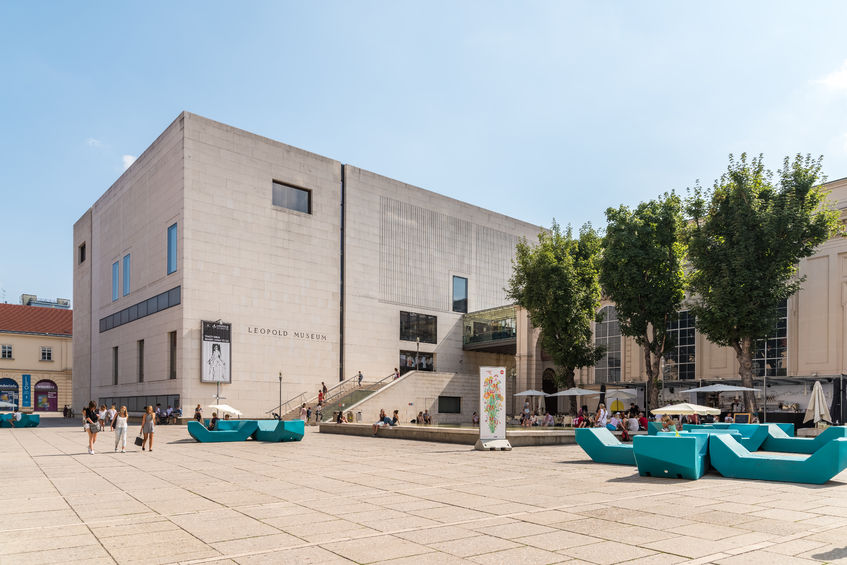 Außenansicht des Gebäudes des Leopold Museums