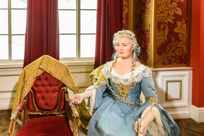 Kaiserin Maria Theresia figurine at madame tussauds wax museum.