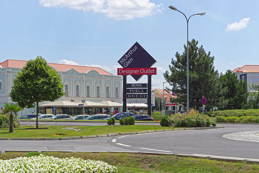 mcarthur glen designer outlet in parndorf. famous discount shopping village near vienna.