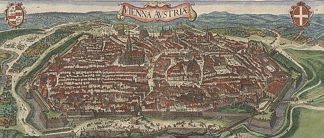 alte Stadtkarte aus dem Jahr 1609