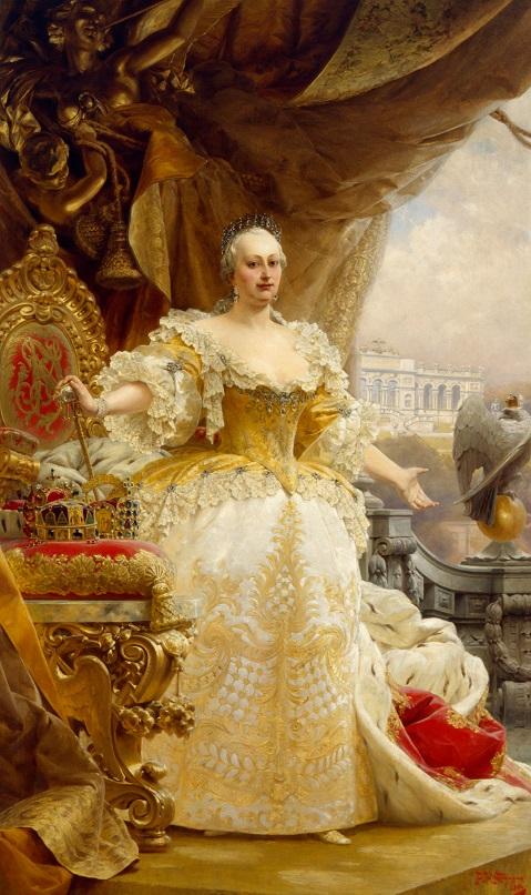Gemälde Maria Theresia im gelben Kleid