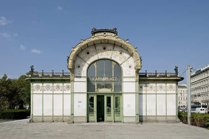 Außenansicht Otto Wagner Pavillon Karlsplatz